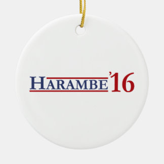 Harambe 16 ornement rond en céramique