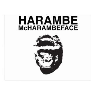 Harambe McHarambeface Carte Postale