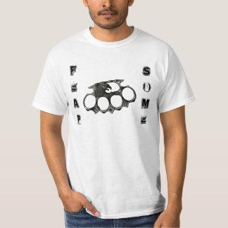 Hard rock de la pièce en t des hommes effrayants t-shirts