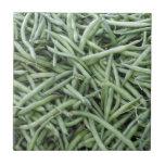 Haricots verts vert-foncé carreaux en céramique
