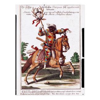 Harlequin à cheval cartes postales