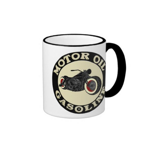 Harley Davidson - Bobber - moteur huile - Gasoline Tasse À Café