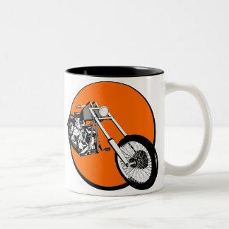 Harley Davidson - Chopper - coeur Custombike Mug Bicolore