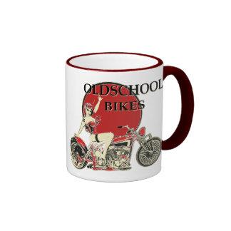 Harley Davidson - Old School Bikes - Retro Mug Ringer
