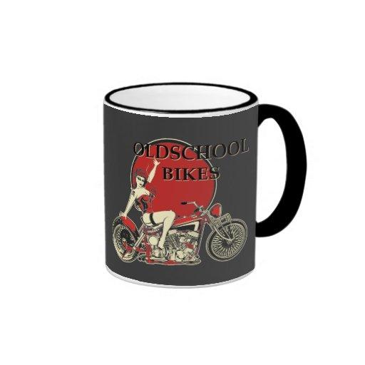 Harley Davidson - Old School Bikes - Retro Tasse