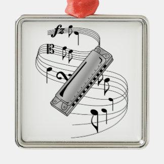 Harmonica Ornement Carré Argenté