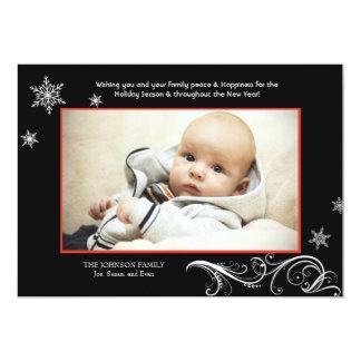 Harmonie de flocon de neige - carte de vacances de carton d'invitation  12,7 cm x 17,78 cm
