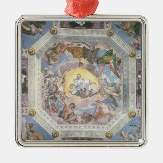 Harmonie universelle, ou amour divin, du ceilin ornement carré argenté