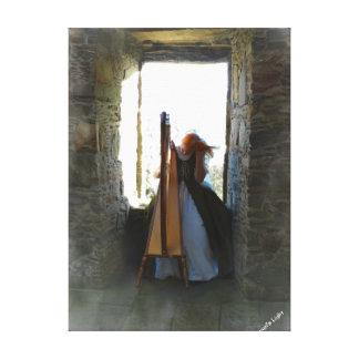 Harpe de la copie passée de toile