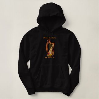 Harpe de récolte sweatshirts à capuche brodé