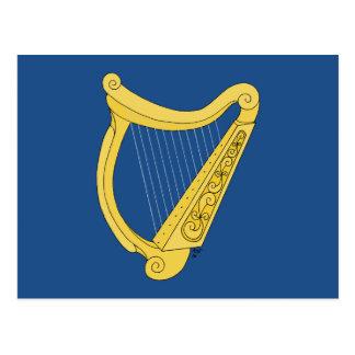 Harpe irlandaise carte postale