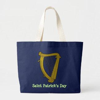 Harpe irlandaise grand tote bag