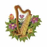 Harpe irlandaise sweat-shirt à capuche brodé