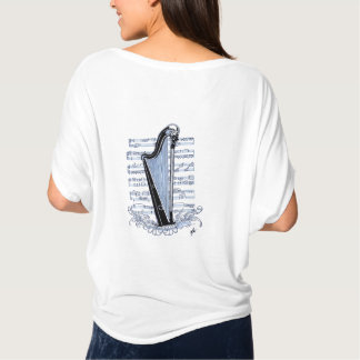harpe sur partition t-shirt