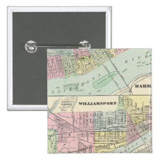 Harrisburg, Williamsport, Erie, Scranton Badges