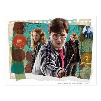 Harry, Hermione, et Ron 1 Carte Postale