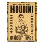 Harry Houdini, roi de menotte ! Cartes Postales