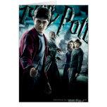 Harry Potter avec Dumbledore Ron et Hermione 1 Carte De Vœux