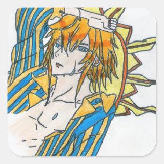 Haru , le dieu de l'été sticker carré