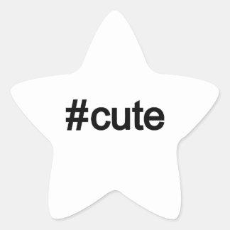 Hashtag # mignon sticker en étoile