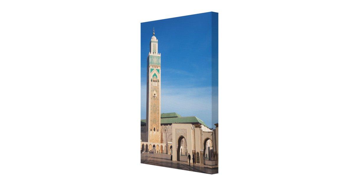 hassan ii mosque toile tendue sur ch ssis zazzle. Black Bedroom Furniture Sets. Home Design Ideas