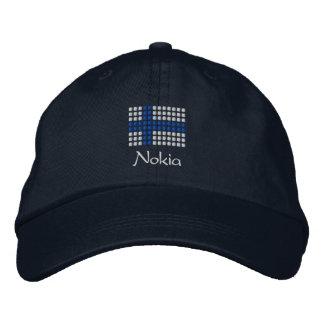 Hattu de Nokia - casquette finlandais de drapeau