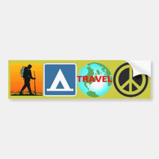 Hausse, camp, voyage, paix autocollants pour voiture