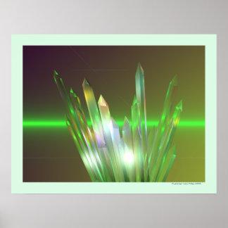 Hausse en cristal posters