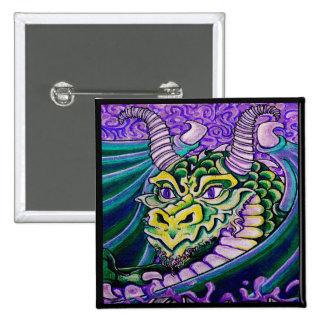 haut étroit de dragon (carré) badges