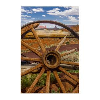 Haut étroit de roues, Arizona Art Mural En Acrylique