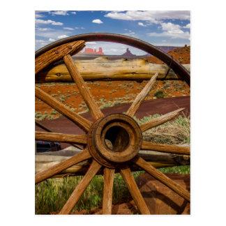 Haut étroit de roues, Arizona Carte Postale