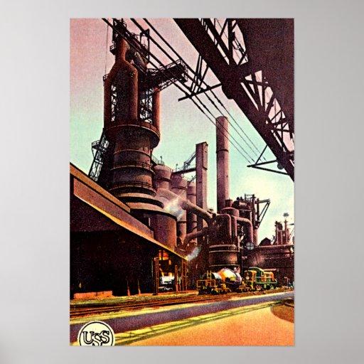 Haut fourneau 1930 de Gary, Indiana Posters