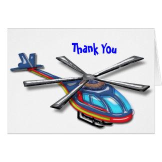 Haut Merci d'hélicoptère de vol Cartes