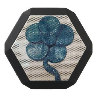 Haut-parleur bleu de fleur