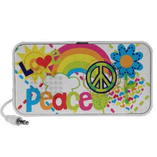 Haut-parleur de griffonnage de paix et d amour