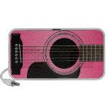 Haut-parleur rose de griffonnage de guitare