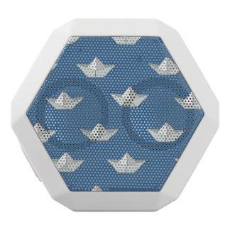 Haut-parleurs Blancs Sans-fils Bateaux d'origami sur le motif de l'eau