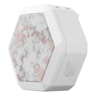 Haut-parleurs Blancs Sans-fils blanc, marbre, or rose, moderne, chic, beau, eleg