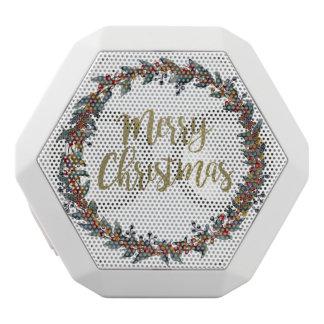 Haut-parleurs Blancs Sans-fils Guirlande d'aquarelle - Joyeux Noël - branches