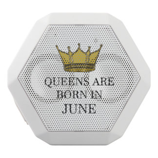 Haut-parleurs Blancs Sans-fils La Reine sont née en juin