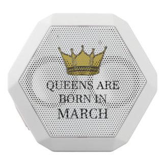 Haut-parleurs Blancs Sans-fils La Reine sont née en mars