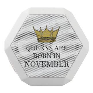 Haut-parleurs Blancs Sans-fils La Reine sont née en novembre