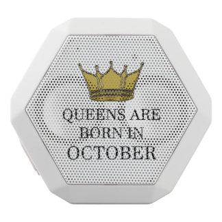 Haut-parleurs Blancs Sans-fils La Reine sont née en octobre
