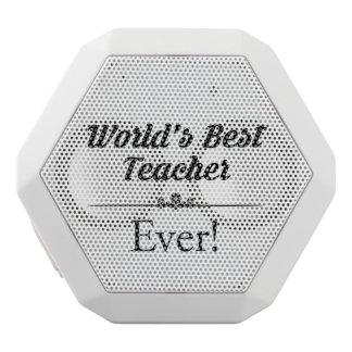 Haut-parleurs Blancs Sans-fils Le meilleur professeur du monde jamais