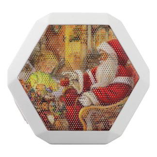 Haut-parleurs Blancs Sans-fils Traîneau de Père Noël - illustration du père noël