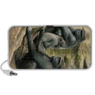 Haut-parleurs de famille de gorille
