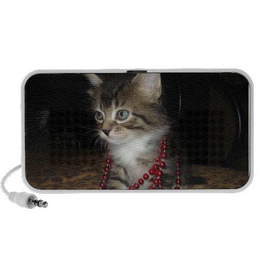 Haut-parleurs mignons de chaton