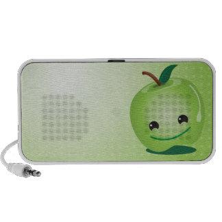 Haut-parleurs mignons de pomme verte