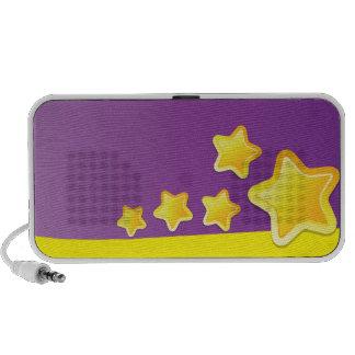 Haut-parleurs mignons frais d'étoiles