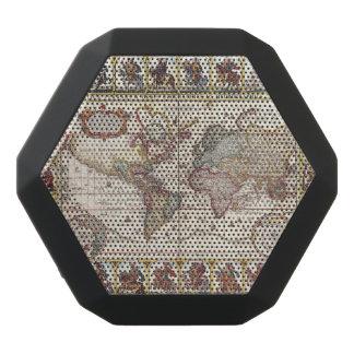 Haut-parleurs Noirs Sans-fils 1652 carte du monde, carte du monde d'atlas de mer